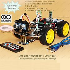 4WD Arduino Smart Car Robot Starter Kit - Programmable Robot (Style three)