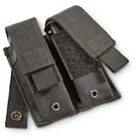 NEW - Military Style Tactical Dual Pistol Mag MOLLE Pouch - SWAT BLACK