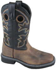 Kid'S Stampede Brown/Black Leather Cowboy Kids Boot