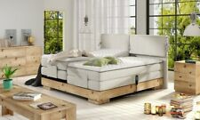 Box Spring Bed Electric Adjustable Motor Hotel Bed Solid Wood Beige Grey Orio