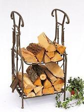 étagère en bois de cheminée avec tisonnier 130007 support 94 cm Panier Set pour