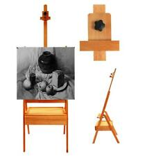 French Easel Portable Wooden Storage Tripod Stand w/ Display Art Artist Painting