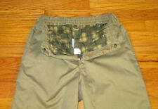 Haband Mens Pants Size 32 x 27 Ice House Beige Flannel Lined Khaki Cotton