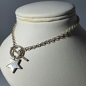 925 Silver T Bar Closure Bracelet With Star