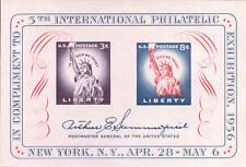 1956 3c-8c Fifth International Philatelic Exhibition Sheet Scott 1075 Mint VF NH