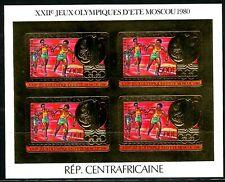 Centre Afrique 1981 Olympic games JO Moscou Gold Foil Or MICHEL 733 I Ba 120 e