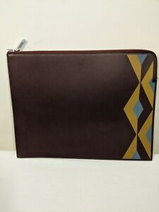 Dunhill Clutch Leather Large Brown Zip Folio RRP £525