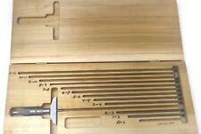 Scherr Tumico Depth Micrometer Tool Set 0 10 001 Grad With Ratchet Thimble
