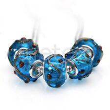 10pcs Murano Glass Beads Lampwork Fit Charms European Bracelet 14x10mm LB0127