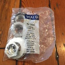 Vintage NOS Old School Wald  Crank Cone Set-24 Thread-Fits Most American-Muscle