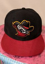River Bandits 59Fifty New Era Fitted Hat Black & Crimson Red 7 1/8 MLB Cap Hat