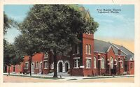 D5/ Lakeland Florida Fl Postcard c1915 First Baptist Church