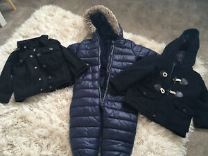 Boys Snow Suit And Coat Bundle Size 18-24 Months Next And River Island