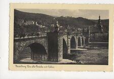 Heidelberg Die Alte Bruecke Mit Schloss 1934 Postcard Germany 081b