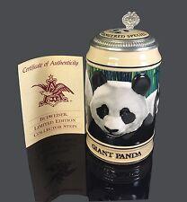 New Budweiser Endangered Species Series Giant Panda Stein 703230 *Open Box*