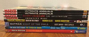 Marvel DC Comics Vertigo TPB Lot Of 8 Teen Titans Batman Transmetropolitan