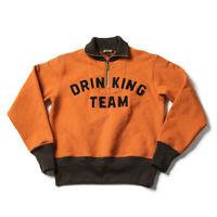 Bronson Drinking Team Sweatshirts Rugged Two-Tone Retro Motorcycle Club Jersey