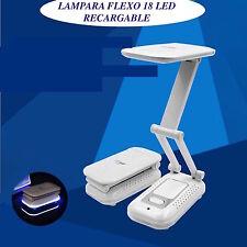 LAMPARA FLEXO 18 LED DP-6001 LUZ NOCTURNA RECARGABLE MESA ESTUDIO MESILLA CASA