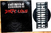 Ex/Ex Thunder Dirty Love Shaped Vinyl Picture Pic Disc