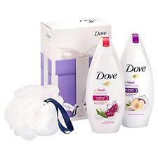 Dove Go Fresh Radiance Gift Set Shower/Gel/Puff/Nutrium/Moisture/Blossom/Lemon