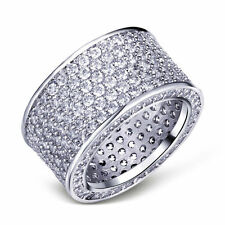 10KT White Gold Filled Clear CZ Cubic Zirconia Eternity Band – Size 10