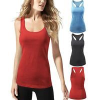 Womens Workout Tank Top Stone Washed Atheltic Racerback Yoga Gym Shirts Casual