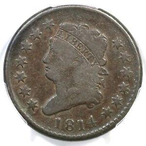 1814 S-295 PCGS VG 10 Plain 4 Classic Head Large Cent Coin 1c