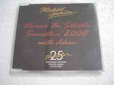 MICHAEL JACKSON  /  WANNA BE STARTIN' SOMETHIN 2008  25th anniversary  cd-single