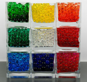 BUY 2 GET 2 FREE 10g WATER BEADS GEL BALL CENTERPIECE MARBLE CRYSTAL DECOR UK