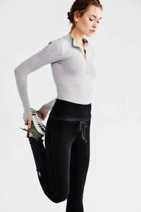New Women's Free People Under It All Legging Yoga Workout Activewear Msrp108usd