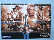 """Lords of EverQuest Magazine Insert Poster 20.5""""x14.5"""" War Calls! Answer With For"""