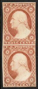 Scott 11A Mint Vertical Pair (Washington) NH OG PO Fresh PF Cert E$2200
