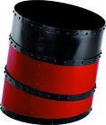 "Cunard Line Ship's Funnel Wastebasket Trash Can 13"" Red & Black Smokestack Decor"