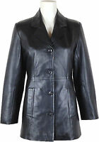 UNICORN Mujeres Genuino real cuero chaqueta clásico Blazer traje Negro #AY