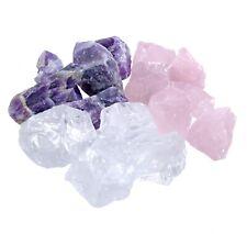Wassersteine / Rohsteine Grundmischung 1kg Amethyst + Rosenquarz + Bergkristall