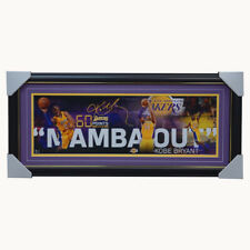 Kobe Bryant Los Angeles Lakers Signed Mamba Out Collage Official NBA Print Frame