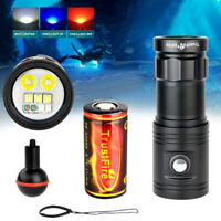 Underwater 100M Dive Video Photo LED Light Scuba Torch Lamp Diving Flashlight