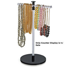 Acrylic Single Pole Necklace Counter Display 115 W X 19 H Inches