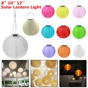 """Solar Chinese Paper Lanterns Lamp Outdoor Garden Xmas Wedding Decor  8"""" 10"""" 12''"""