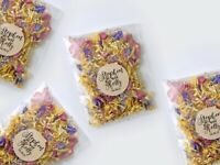 Rainbow Rose Petal Natural Biodegradable Wedding Confetti Dried Petal PACKETS