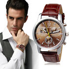 Fashion Women Men Geneva Watch Lady Leather Band Analog Quartz Wrist Watches