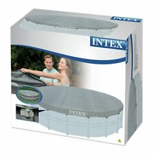 INTEX 28040 ROUND FRAME 16FT 488cm SWIMMING POOL COVER WINTER SHEET TARPAULIN