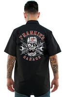 Lucky 13 Frankies Garage Frankenstein Rockabilly Button Down Work Shirt LM6850FG