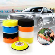 "10Pcs 3"" M6 Thread Polishing Buffing Buffer Backer Pad Kit Car Polisher Sander"