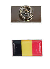 Belgium Flag Tie Pin with free organza pouch