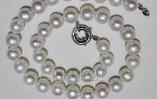"White Baroque Pearl Necklace 18"" 12-13 Mm Natural South Sea"