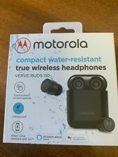 Motorola Verve Buds 110 Black Bluetooth Earbuds Wireless & Charging Base