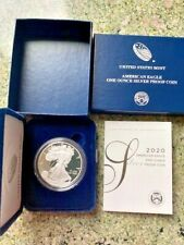 2020 $1 SILVER AMERICAN EAGLE PROOF COIN W/ BOX & PAPERS