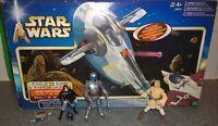 Star Wars AOTC SLAVE 1, Jango + Boba Fett, + Obi Wan Kenobi Figure Lot - Used