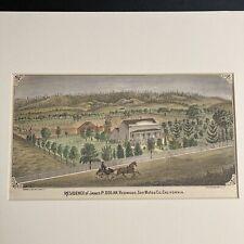 Antique Britton & Rey Lithograph James P. Dolan Redwood San Mateo County CA